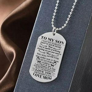 Jewelry - To my son love mom stainless neckless dog tag